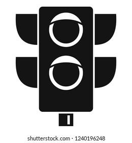 Pedestrian semaphore icon. Simple illustration of pedestrian semaphore vector icon for web design isolated on white background