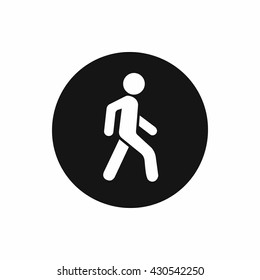 Pedestrians only road sign icon