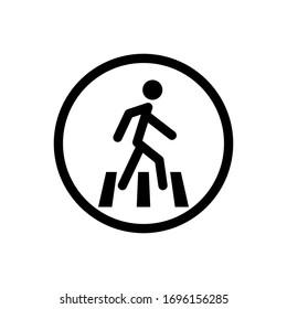 For pedestrians outline icon. Symbol, logo illustration for mobile concept and web design.