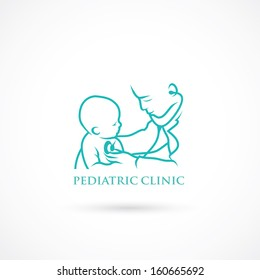 Pediatric clinic symbol - vector illustration