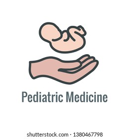 Pediatric Medicine w Baby or Pregnancy Related Icon
