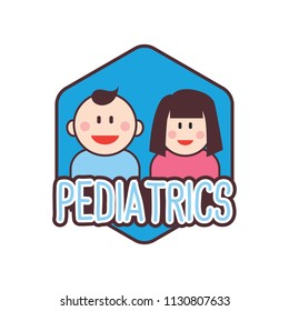 Pediatrician Logo For Doctor Or Clinic Vector Illustration