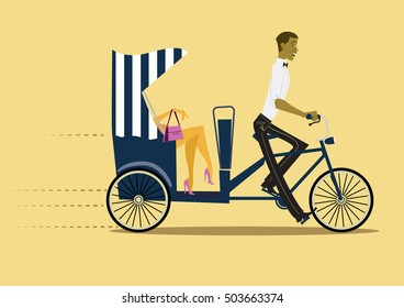 Pedicab - illustration