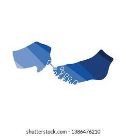 Pedicure icon. Flat color design. Vector illustration.