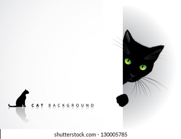 Peeking Cat Background. EPS 8 vector, grouped for easy editing. No open shapes or paths.