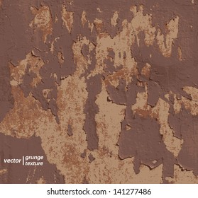Peeling paint on a wall, grunge texture background