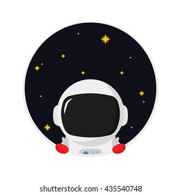 Peeping Astronaut / Galaxy / Outer Space