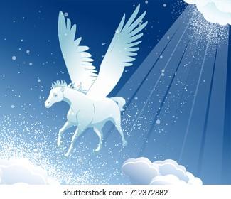 ad35527bd76c Pegasus Winter Landscape Snow Stock Illustration 88649134 - Shutterstock