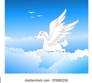 pegasus flying cartoon