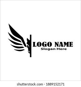 pegasus horse logo symbol creative graphic design