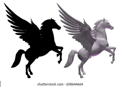 Pegasus Horse With Wings Vector 01