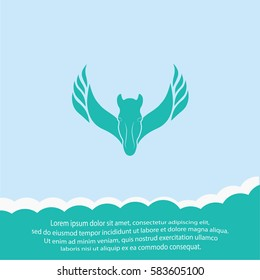 Pegasus  icon. Vector design.