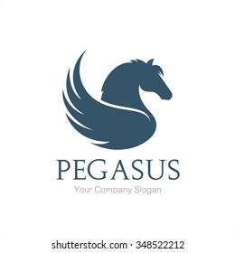 Pegasus logo, Horse logo, vector logo template