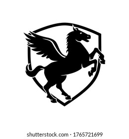 Pegasus Logo Vector Illustration Stock Vector