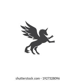 Pegasus logo vector illustration template