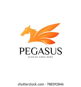 Pegasus logo Vector template