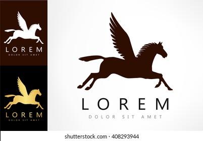 Pegasus symbol. Vector illustration.