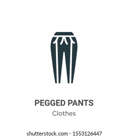 Pegged pants vector icon on white background. Flat vector pegged pants icon symbol sign from modern clothes collection for mobile concept and web apps design.