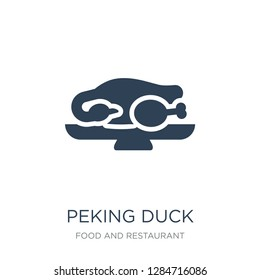peking duck icon vector on white background, peking duck trendy filled icons from Food and restaurant collection, peking duck vector illustration