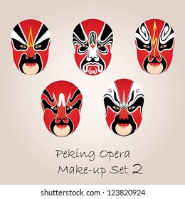 Peking opera red make-up set
