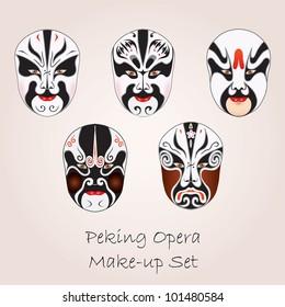 Peking opera white make-up set
