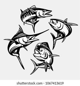 Pelagic fish deep ocean collection