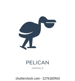 pelican icon vector on white background, pelican trendy filled icons from Animals  collection, pelican vector illustration