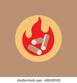pellet fuel icon logo