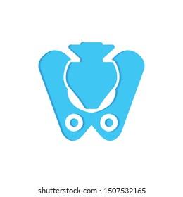 pelvis flat icon sign. pelvis symbol, logo illustration. Different style icons set. Pixel perfect vector graphics - Vector