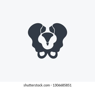 Pelvis icon isolated on clean background. Pelvis icon concept drawing icon in modern style. Vector illustration for your web mobile logo app UI design.