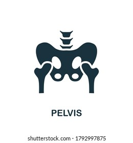 Pelvis icon. Simple element from internal organs collection. Creative Pelvis icon for web design, templates, infographics and more