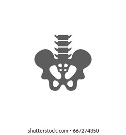 Pelvis icon in trendy flat style isolated on white background. Symbol for your web site design, logo, app, UI. Vector illustration, EPS