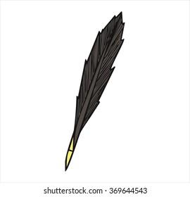 pen antique pen, cartoon vector