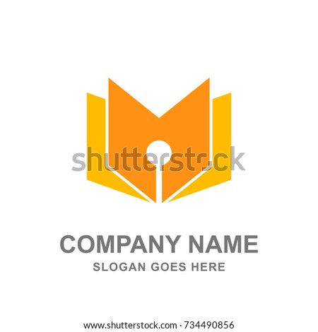 Pen And Book Education College University Library Logo Vector