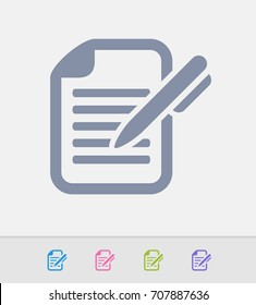 Pen & Document - Granite Icons. A professional, pixel-perfect icon.