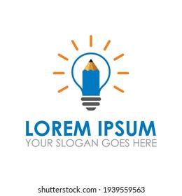 pen lamp vector , innovation logo