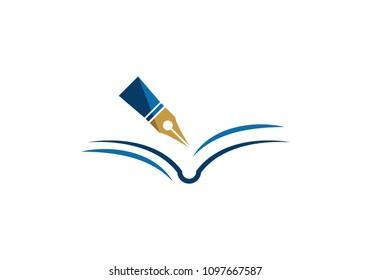pen Logo template Vector illustration