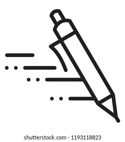 Pen marking some lines to depict speed writing icon