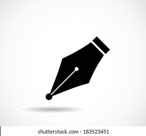 Pen nib icon vector