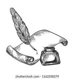 Pen paper and ink engraving vector illustration. Scratch board style imitation. Black and white hand drawn image.