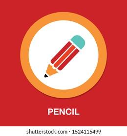 pen, pencil icon, colored pencils, pencil isolated, pencil drawing, eraser, school icon