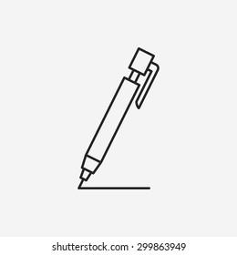 pen pencil line icon