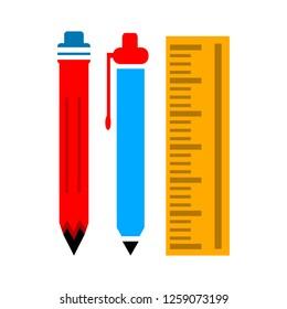pen pencil ruler icon