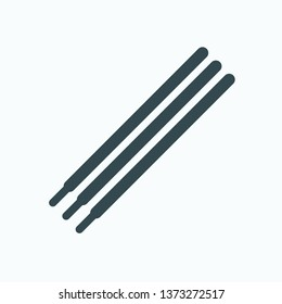 Pen refill rods isolated vector icon