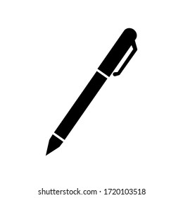 Pen sign icon vector illustration isolated on white.