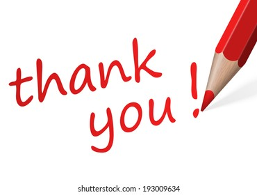 """Pen with text """" thank you! """""""