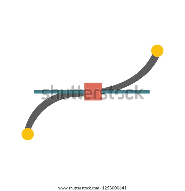 Pen Tool Icon Bezier Curve Graphic Stock Vector (Royalty