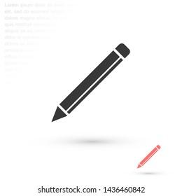 a pen vector icon 10 eps , Lorem ipsum Flat design