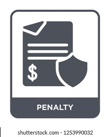 penalty icon vector on white background, penalty trendy filled icons from Gdpr collection, penalty simple element illustration