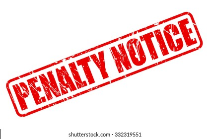 PENALTY NOTICE red stamp text on white